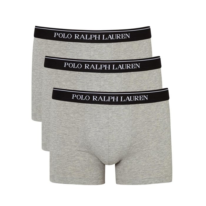Polo Ralph Lauren Grey Stretch Cotton Boxer Briefs - Set Of Three thumbnail