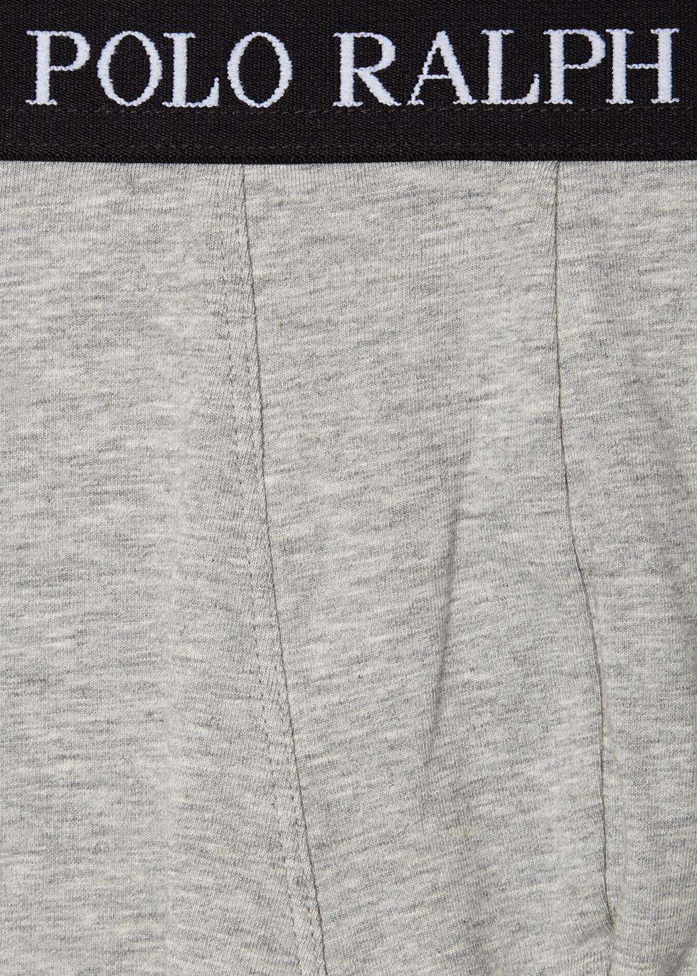 Grey stretch cotton boxer briefs - set of three - Polo Ralph Lauren