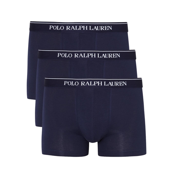 Polo Ralph Lauren Navy Stretch Cotton Boxer Briefs - Set Of Three thumbnail