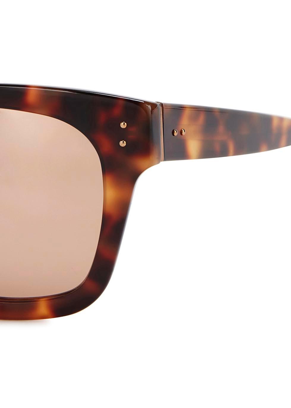 71 tortoiseshell square-frame sunglasses - Linda Farrow Luxe