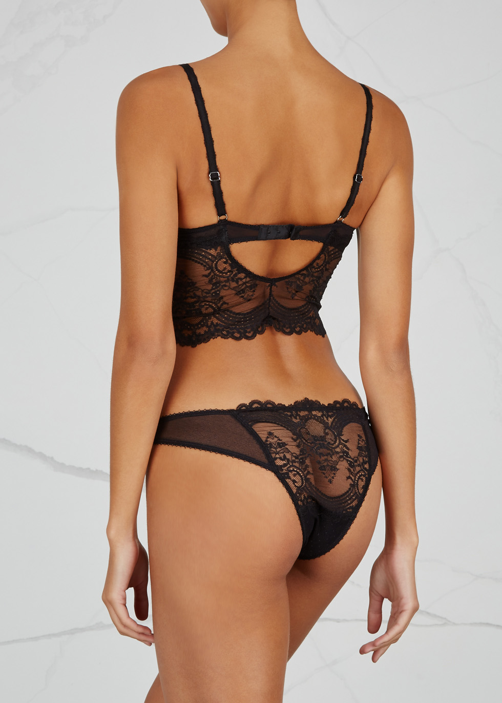 Chrystalle black lace briefs - Wacoal