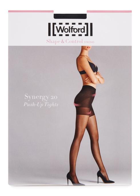 3de79384036 Wolford Synergy black 20 denier control tights - Harvey Nichols