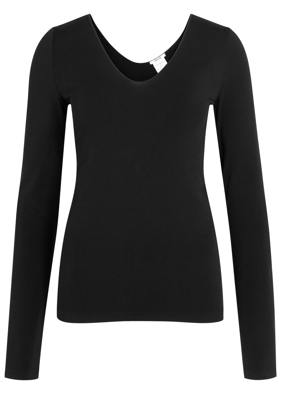 Black seamless jersey top - Wolford
