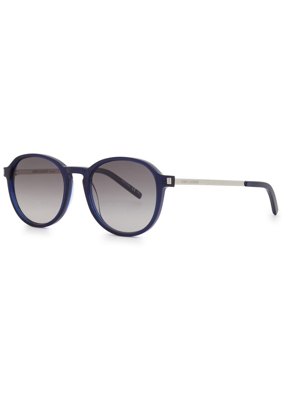 SL110 navy round-frame sunglasses - Yves Saint Laurent