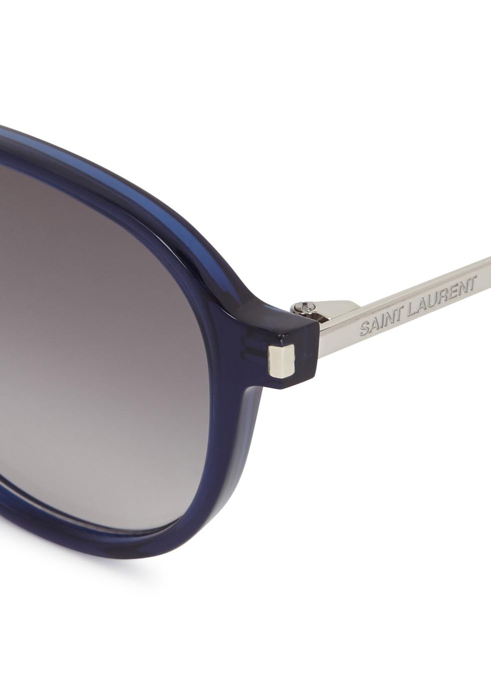 SL110 navy round-frame sunglasses - Yves Saint Laurent