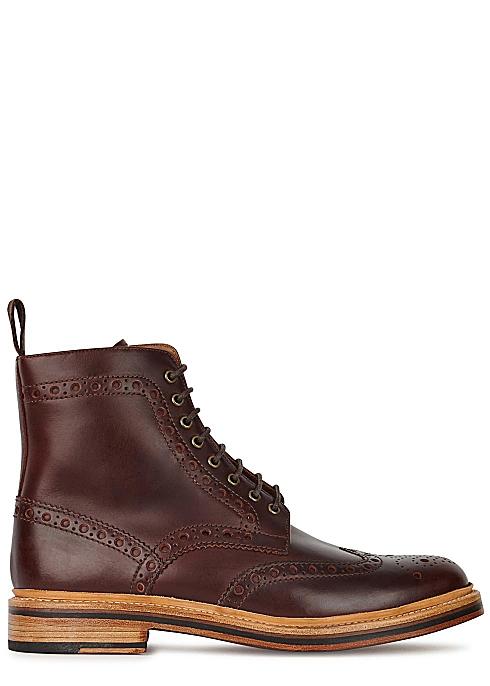 004d2f6aee1 Grenson Fred dark brown leather boots - Harvey Nichols