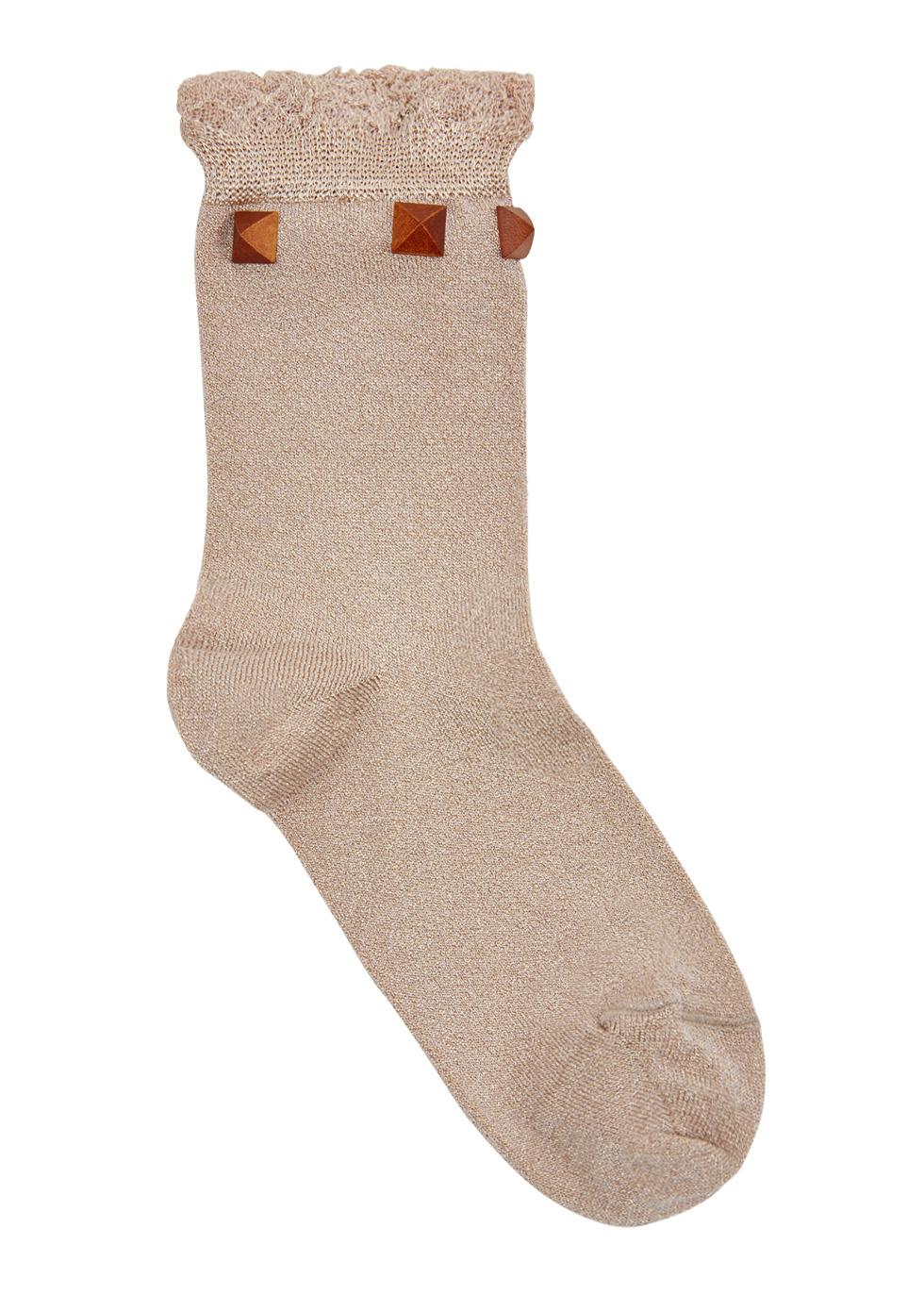 Fresia ruffle-trimmed jersey socks - Pierre Mantoux