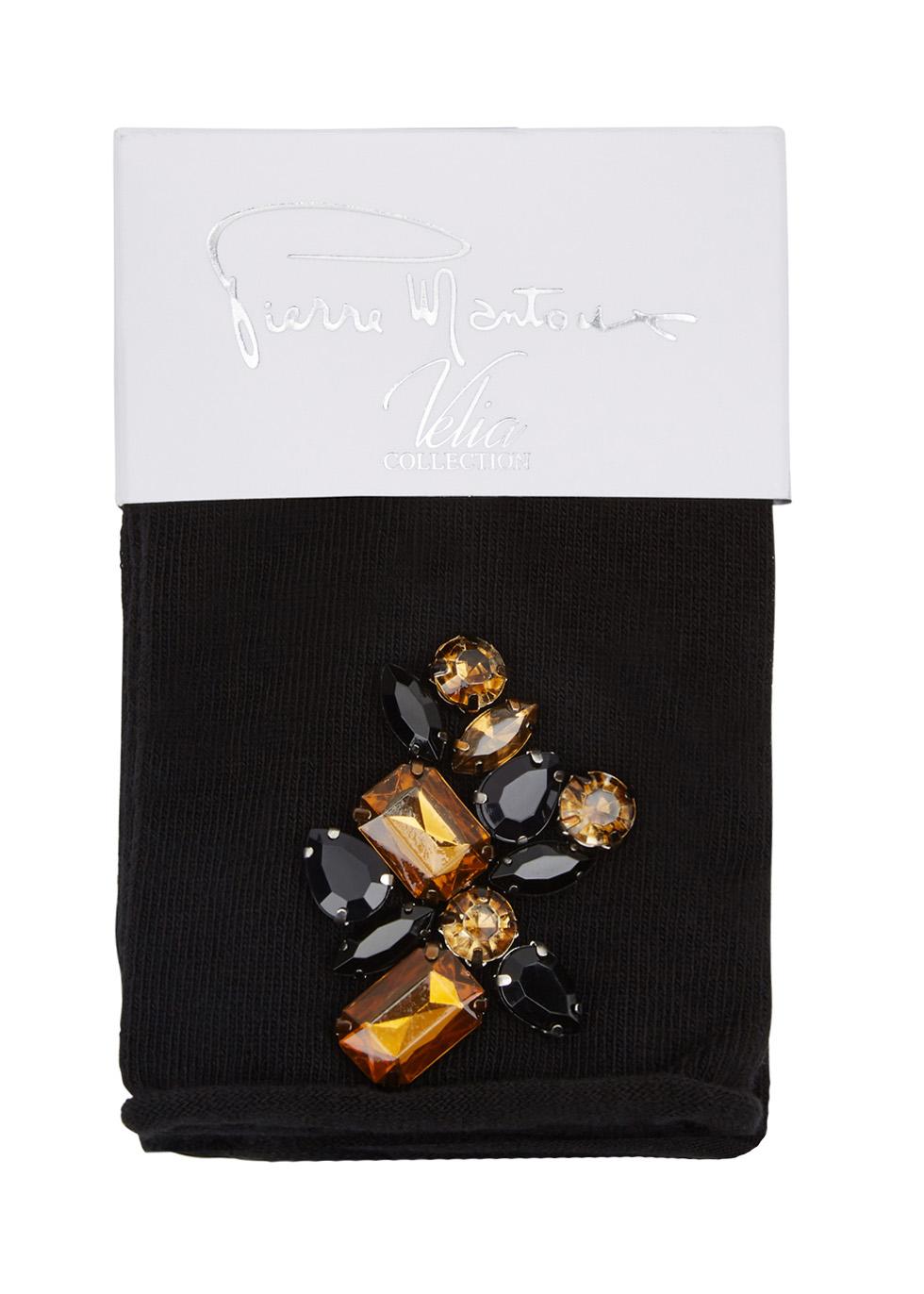 Magnolia bead-embellished cotton blend socks - Pierre Mantoux