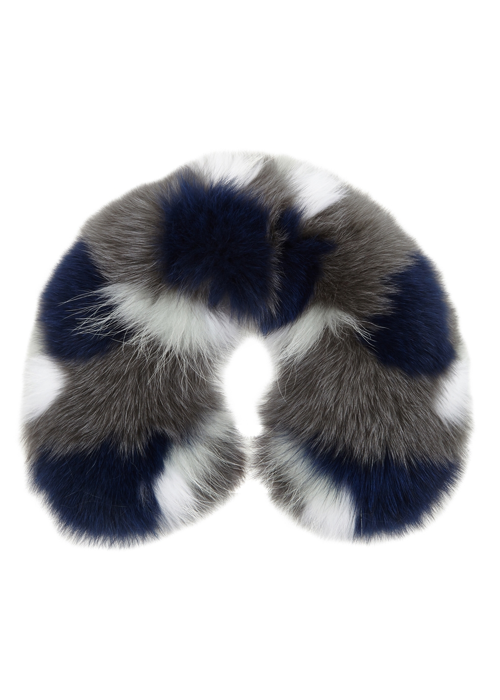 Colour-block fur collar - Yves Salomon