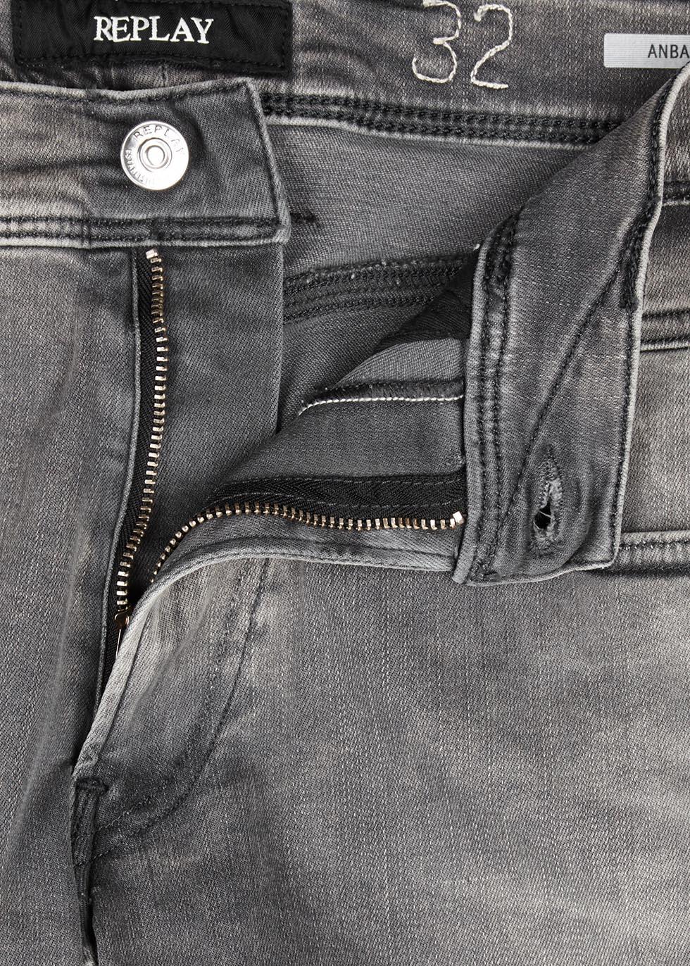 Anbass Hyperflex grey slim-leg jeans - Replay
