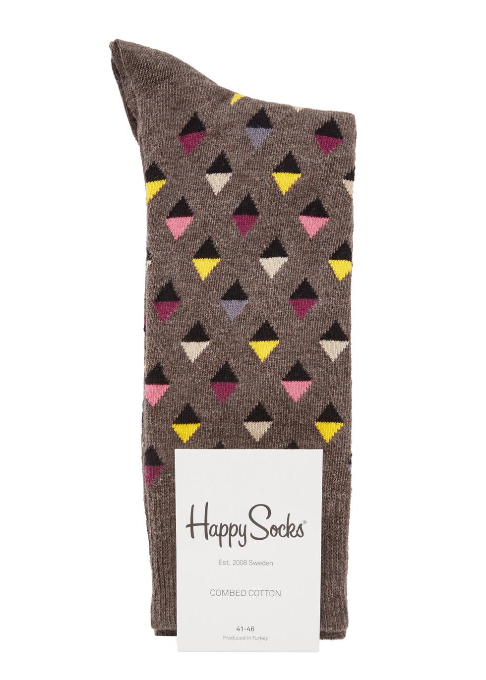 Diamond cotton blend socks - Happy Socks