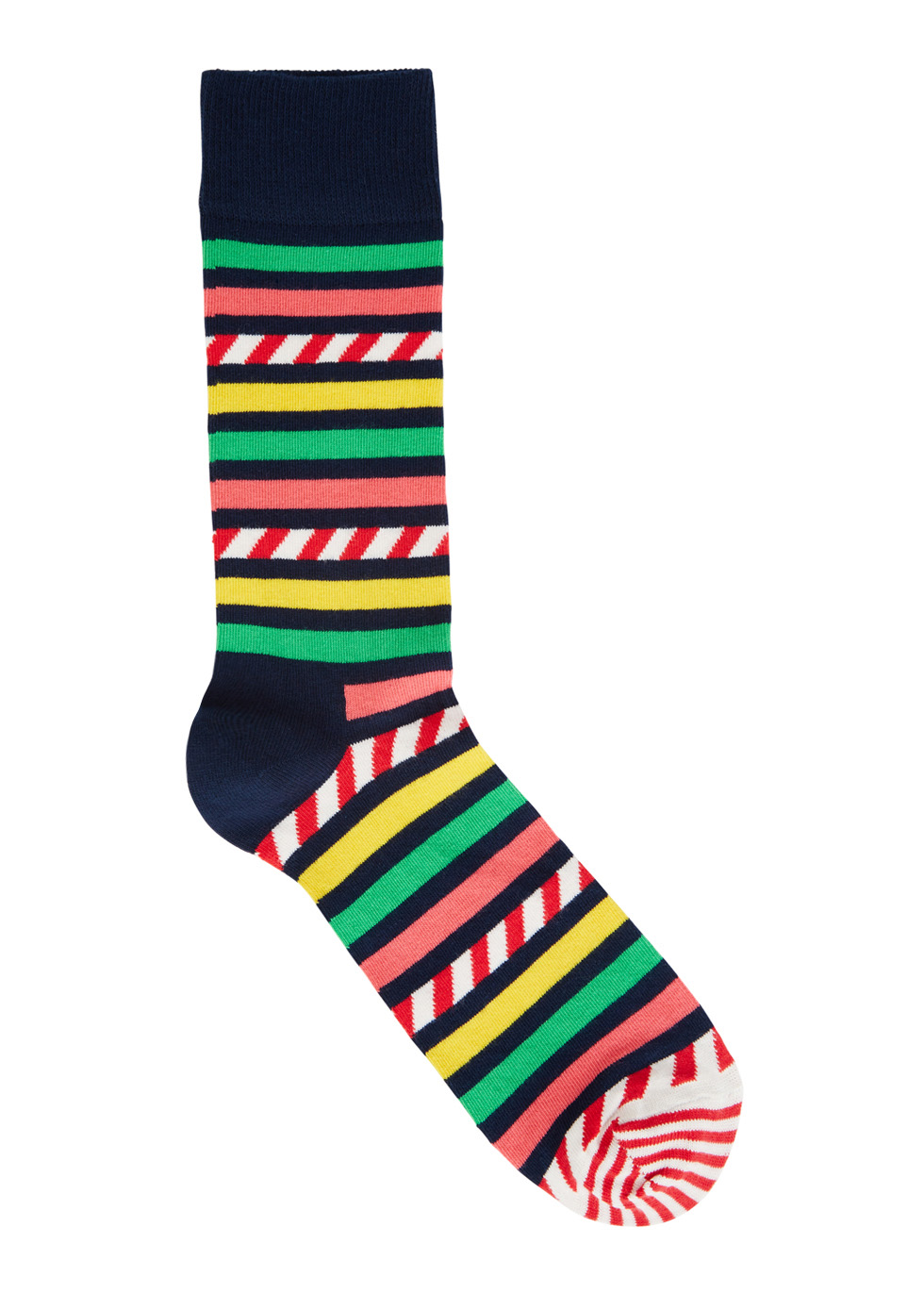 Striped cotton blend socks - Happy Socks