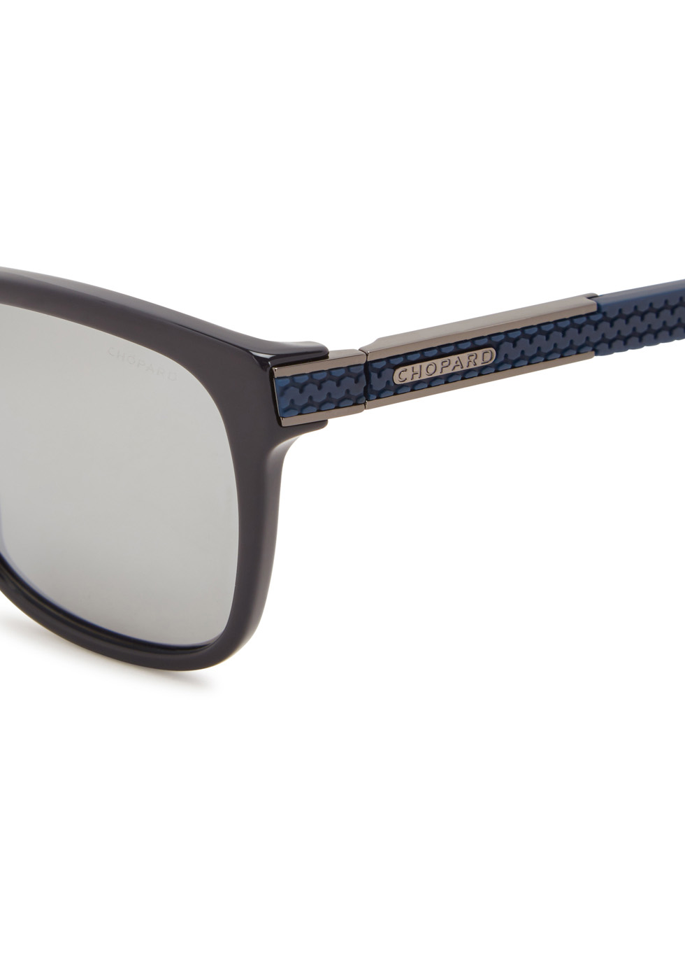 Navy polarised wayfarer-style sunglasses - Chopard