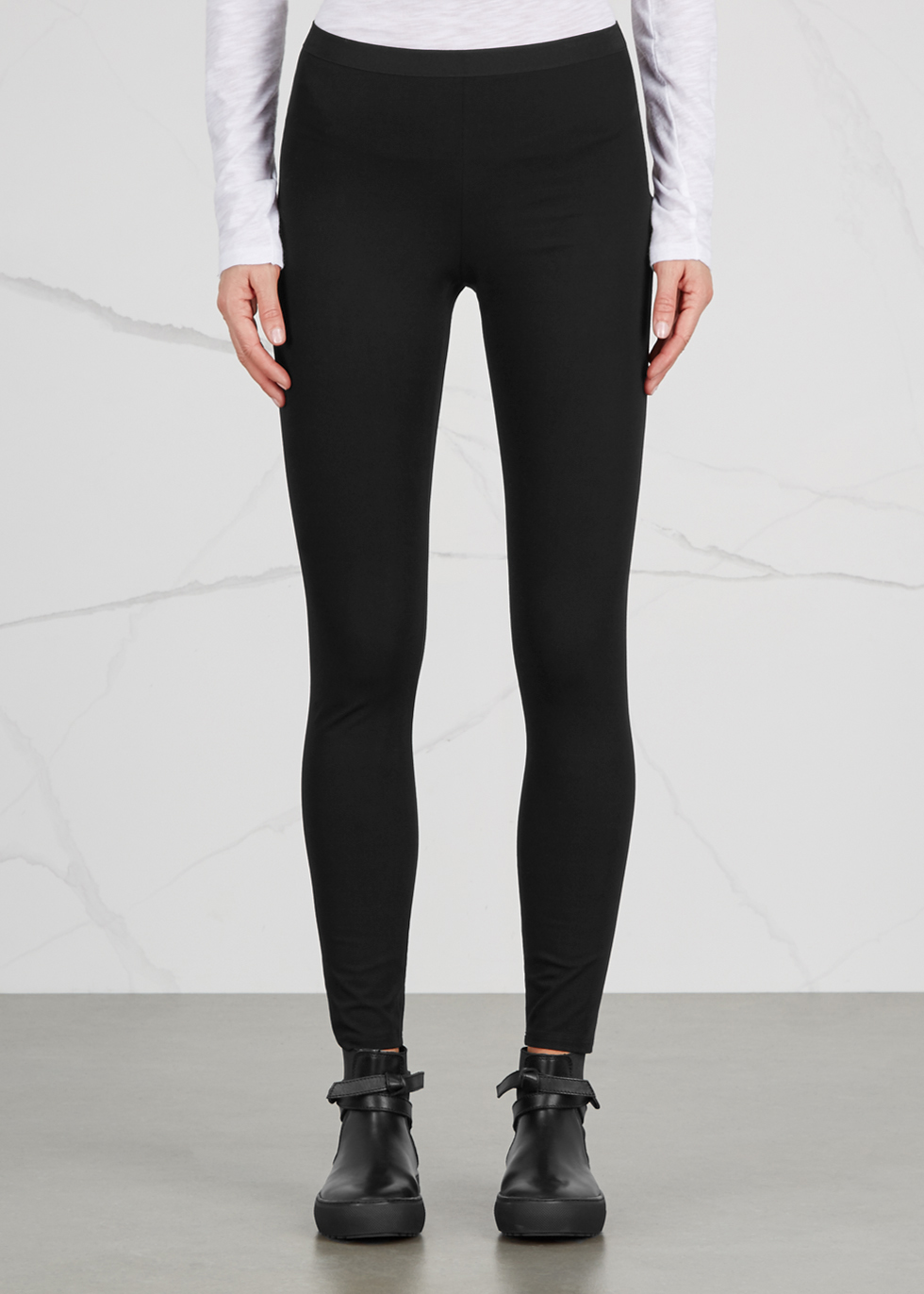 Reflex black jersey leggings - Helmut Lang