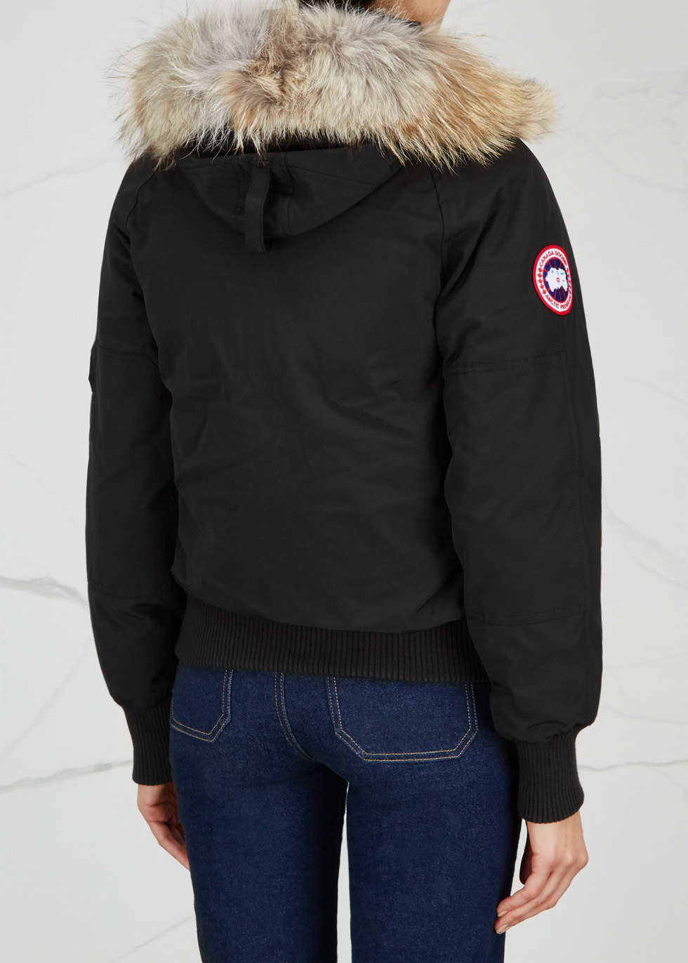 Chilliwack black fur-trimmed jacket - Canada Goose
