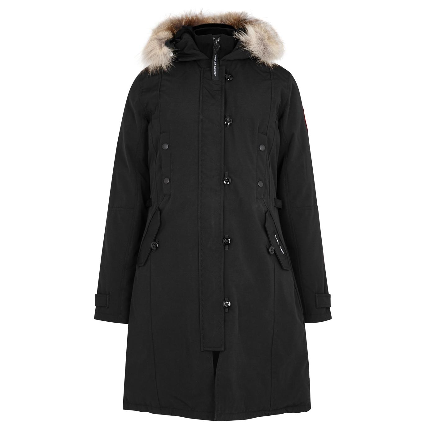 f92480f0e4d9 Canada Goose Kensington black fur-trimmed parka - Harvey Nichols