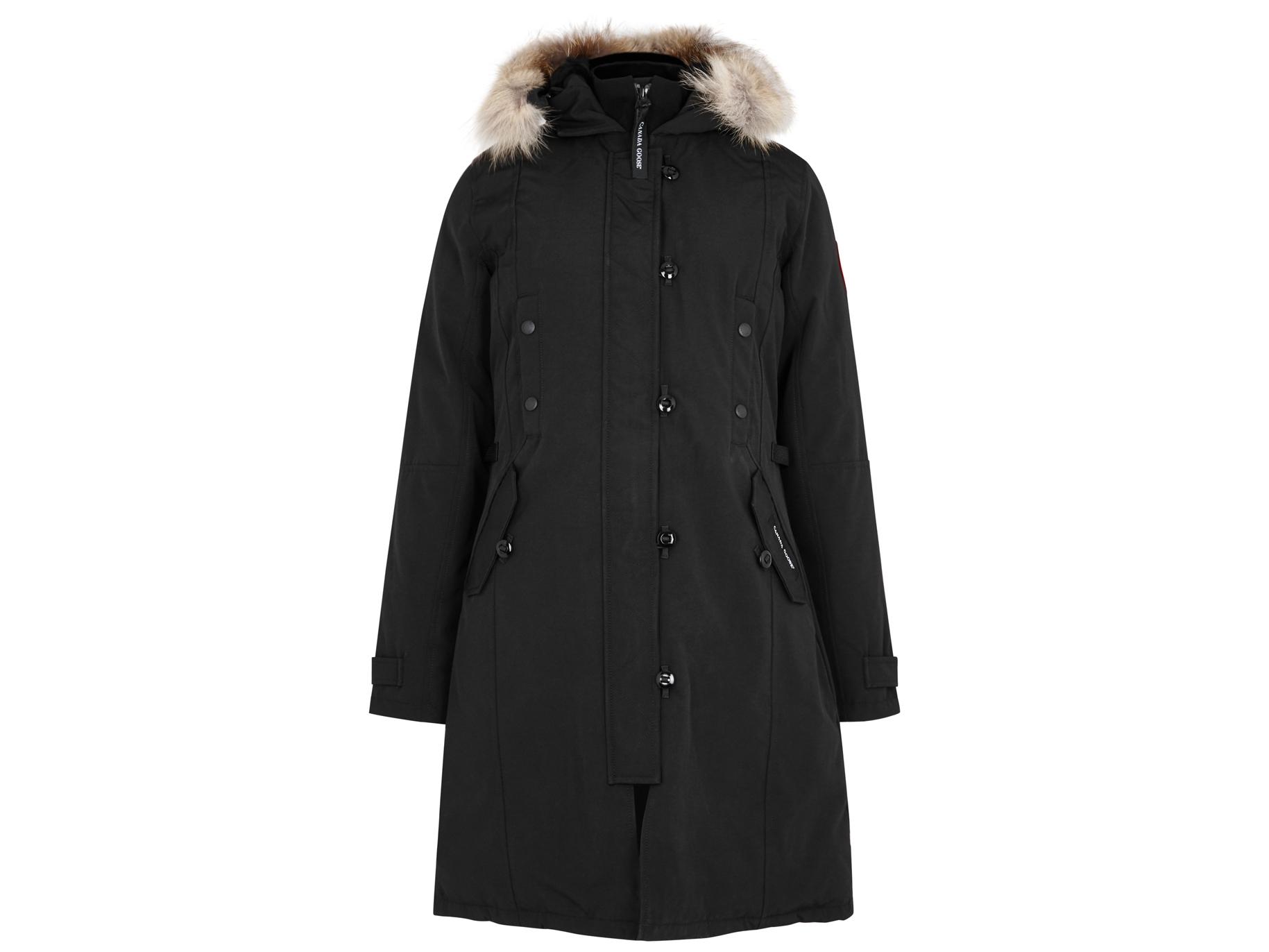 Canada Goose Kensington black fur-trimmed parka - Harvey Nichols b9d8aedf8f3