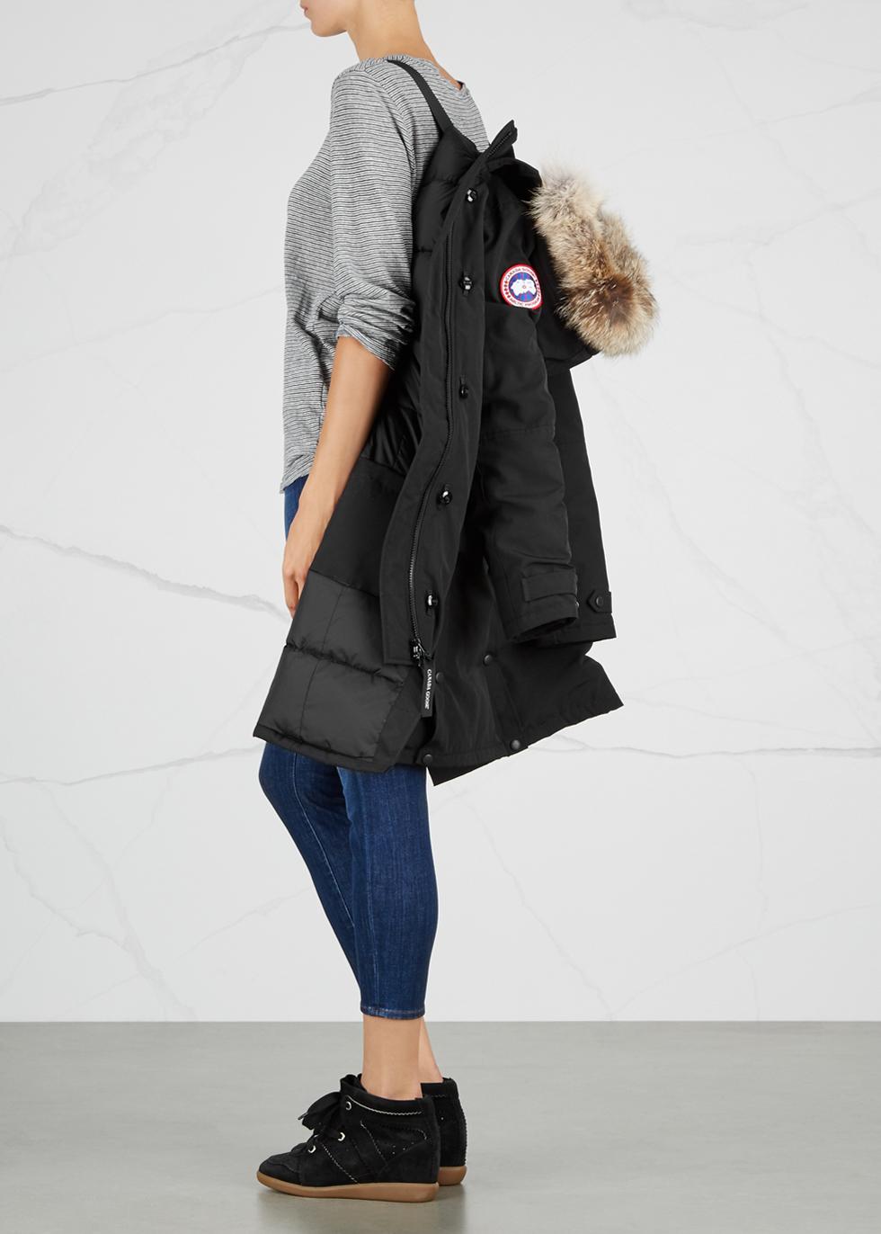 Kensington black fur-trimmed parka - Canada Goose
