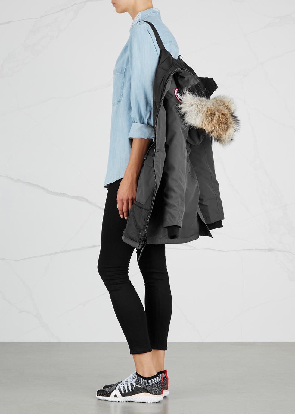 Victoria dark grey fur-trimmed parka - Canada Goose