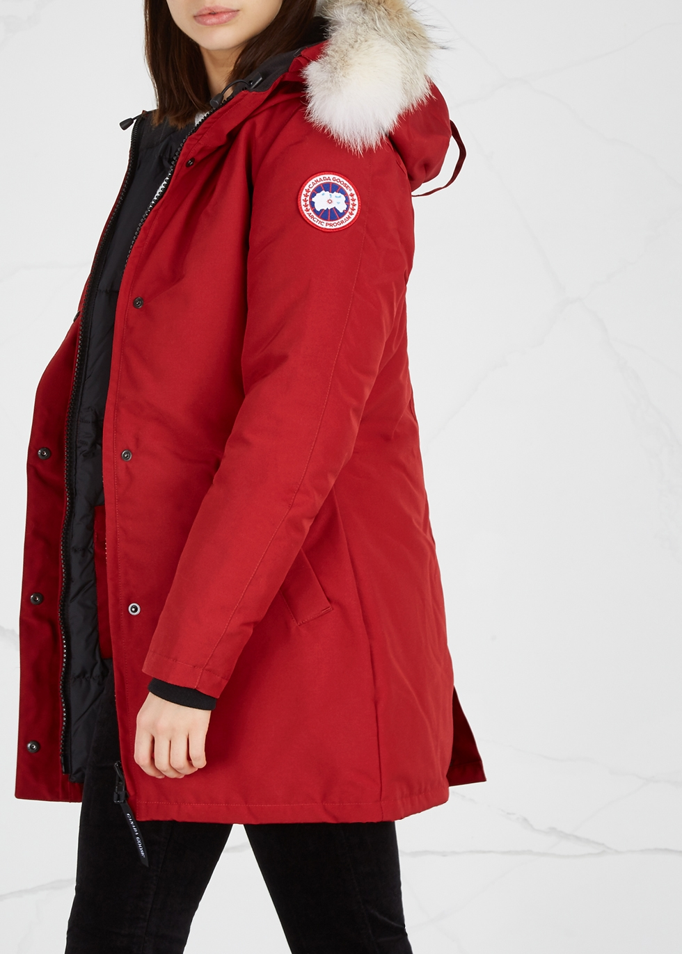 canada goose red chelsea parka