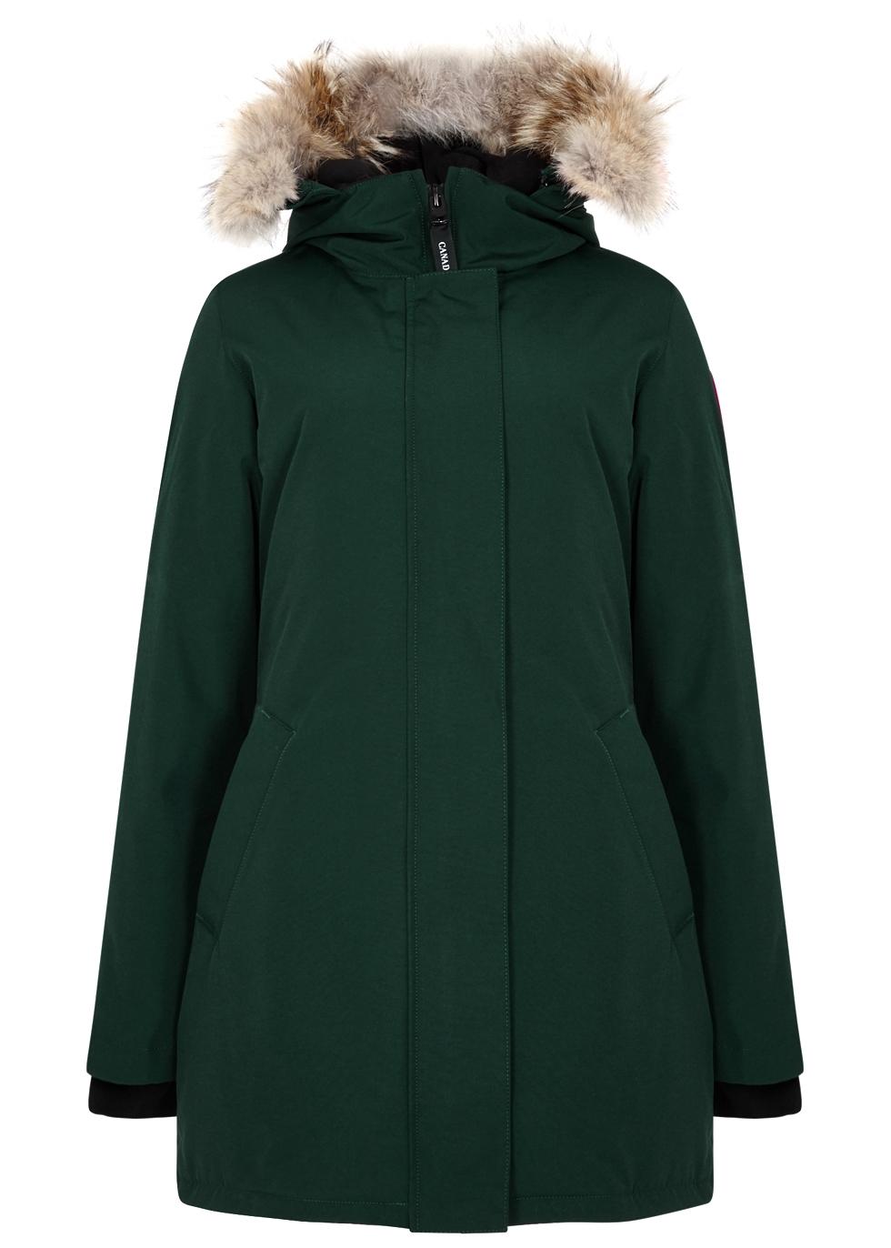 canada goose victoria dark green fur trimmed parka harvey nichols rh harveynichols com