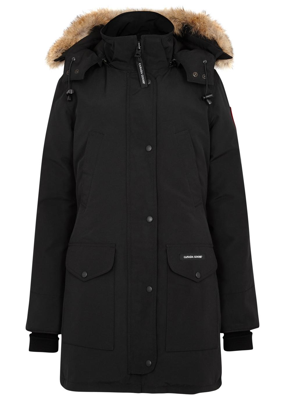 canada goose trillium black fur trimmed parka harvey nichols rh harveynichols com