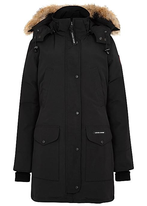 6538073fbf4 Canada Goose Trillium black fur-trimmed parka - Harvey Nichols