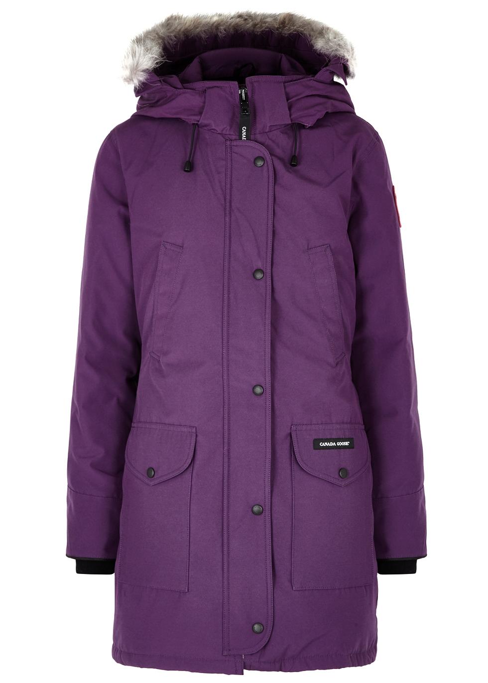 Trillium Purple Fur-Trimmed Parka in Dark Purple