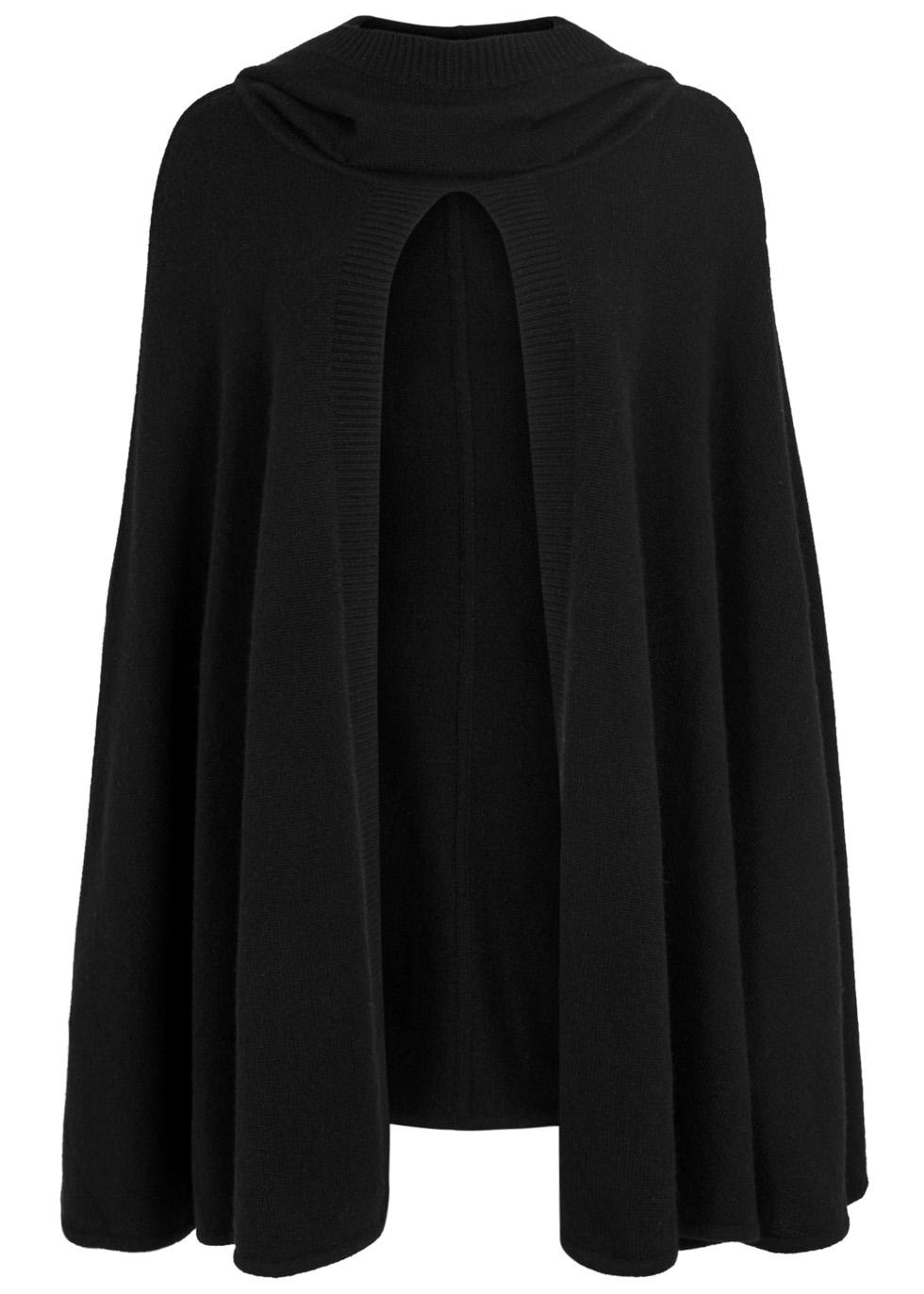 Madison black cashmere cape - Le Kasha