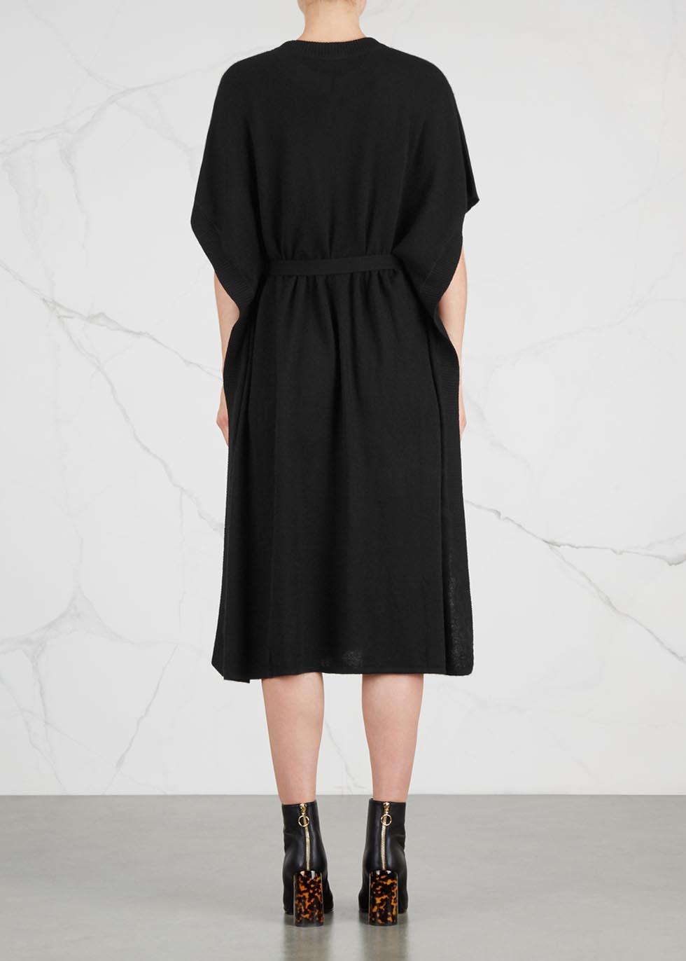 Goa black cashmere dress - Le Kasha