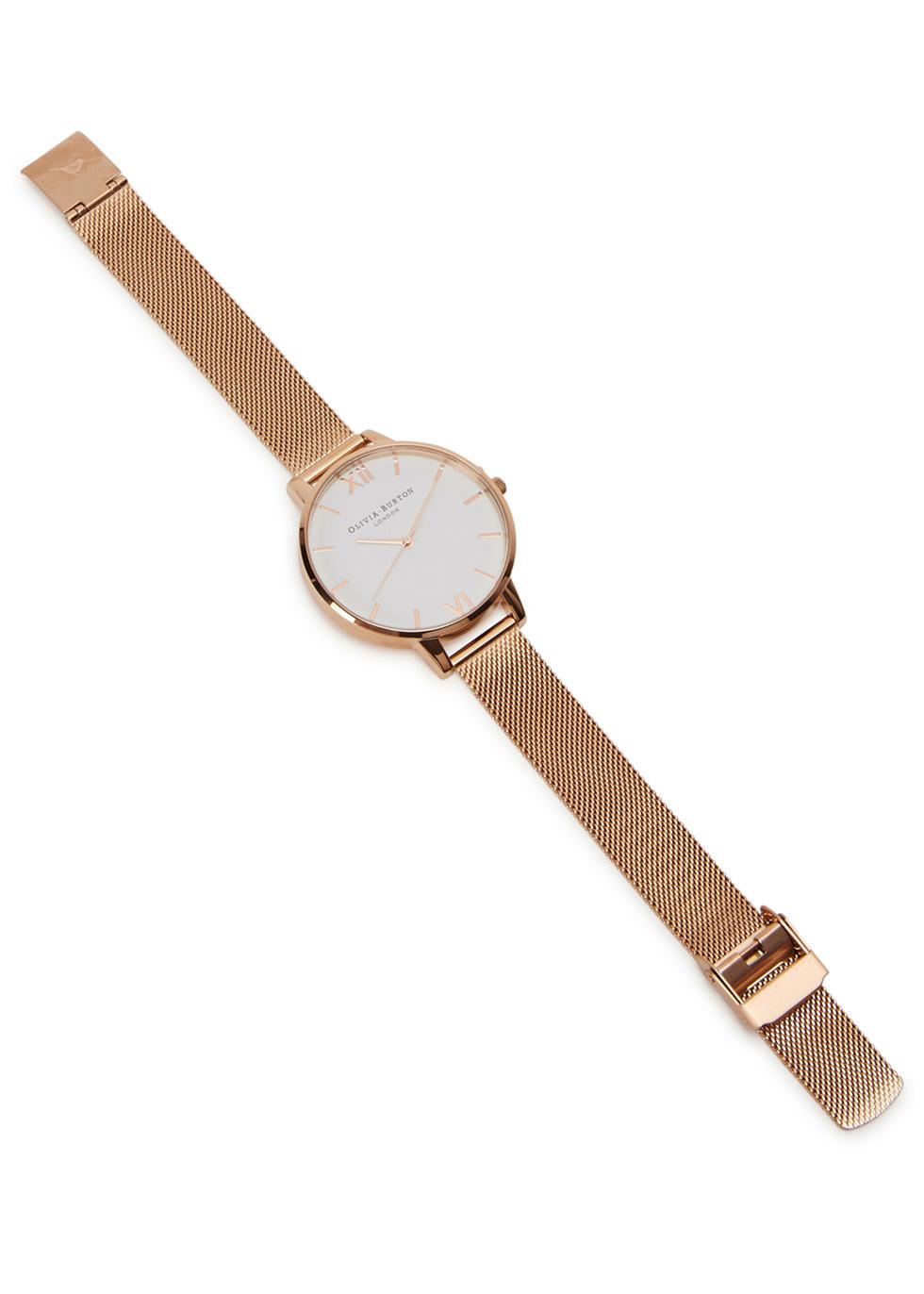Big Dial rose gold-plated watch - Olivia Burton