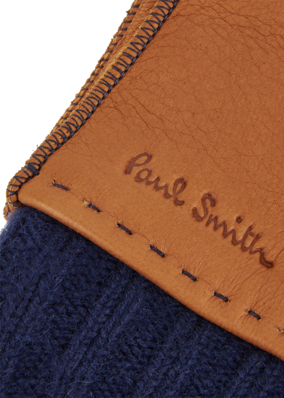 Brown leather gloves - Paul Smith