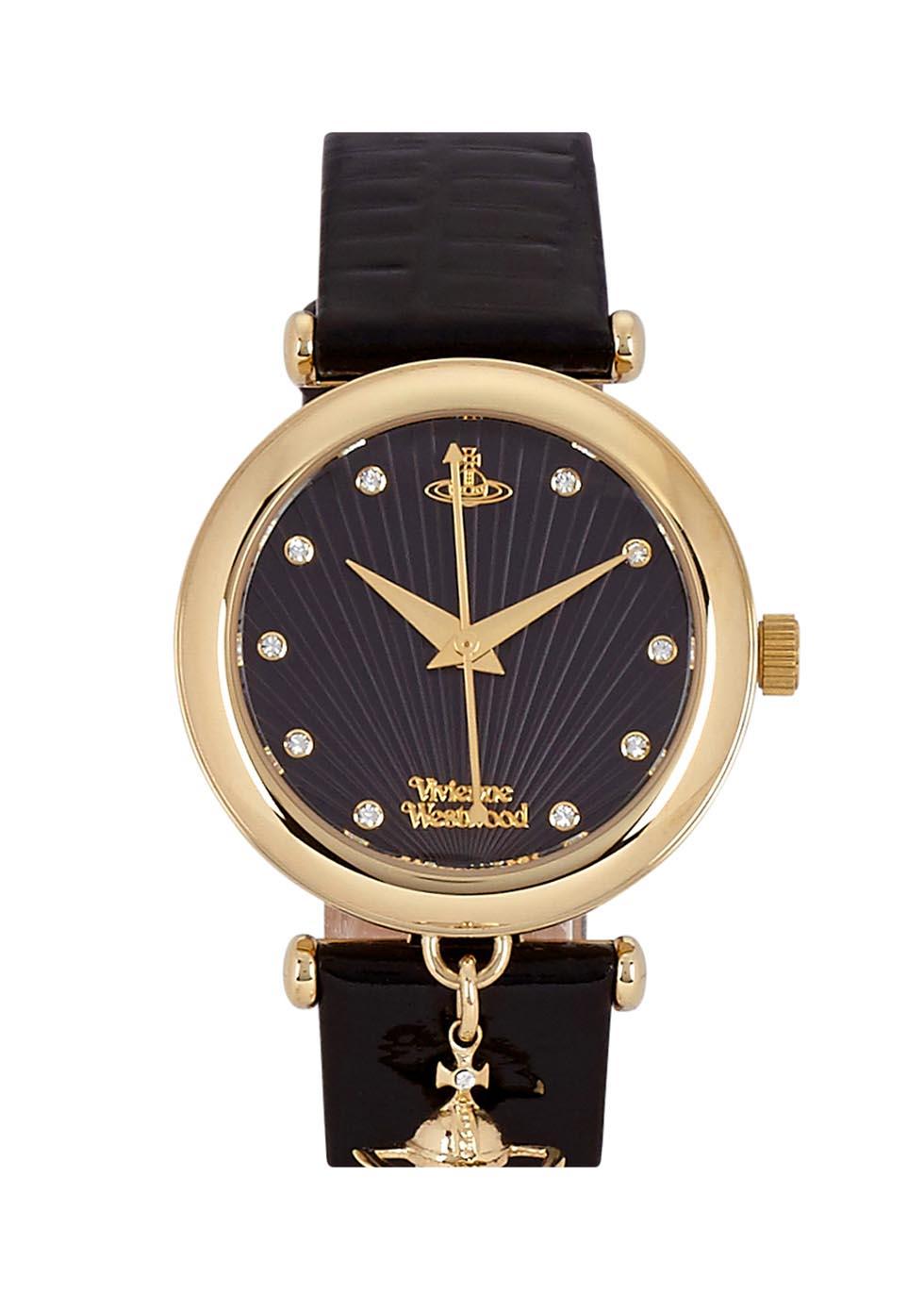 Trafalgar black gold tone watch - Vivienne Westwood
