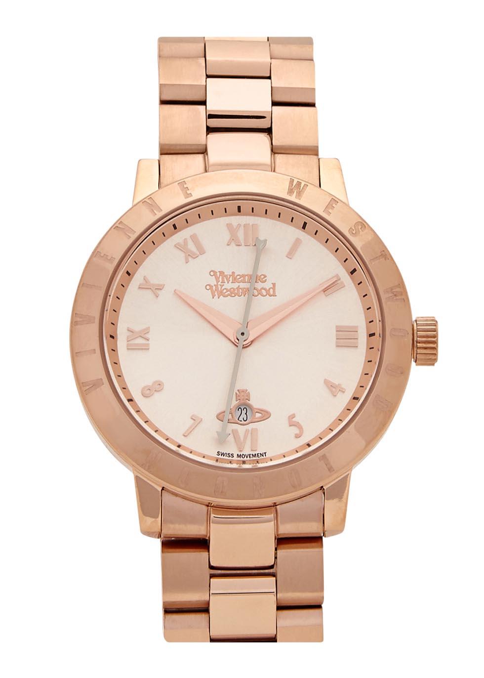 Bloomsbury rose gold tone watch - Vivienne Westwood