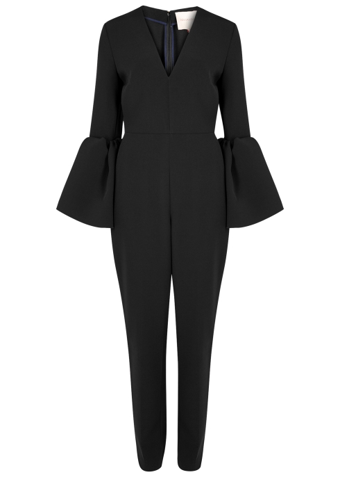 c64fc63c7a6d Roksanda Margot black crepe jumpsuit - Harvey Nichols