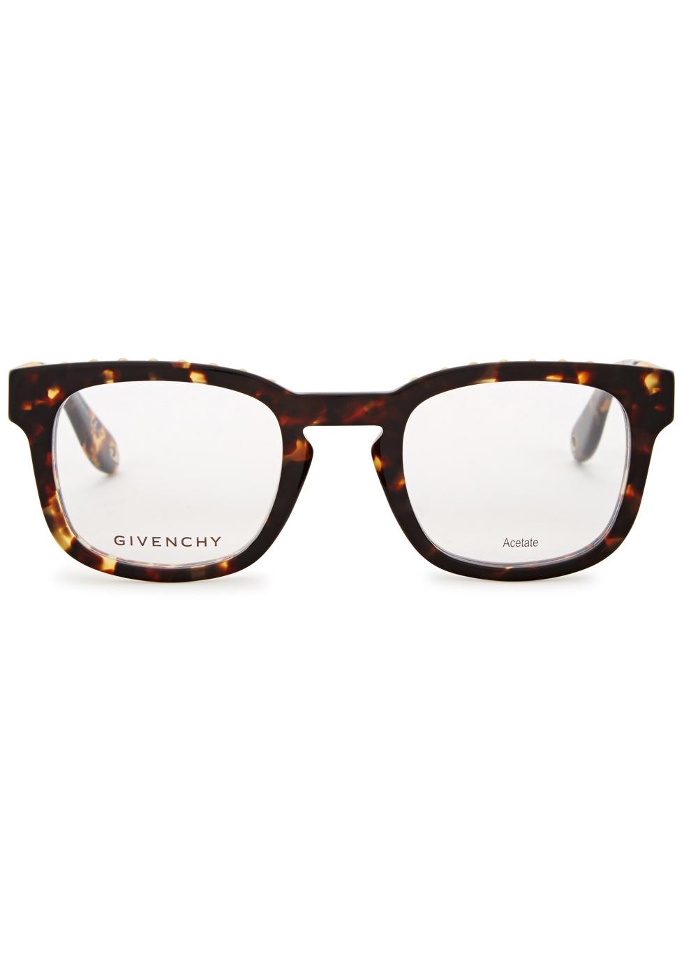 Tortoiseshell wayfarer-style optical glasses - Givenchy