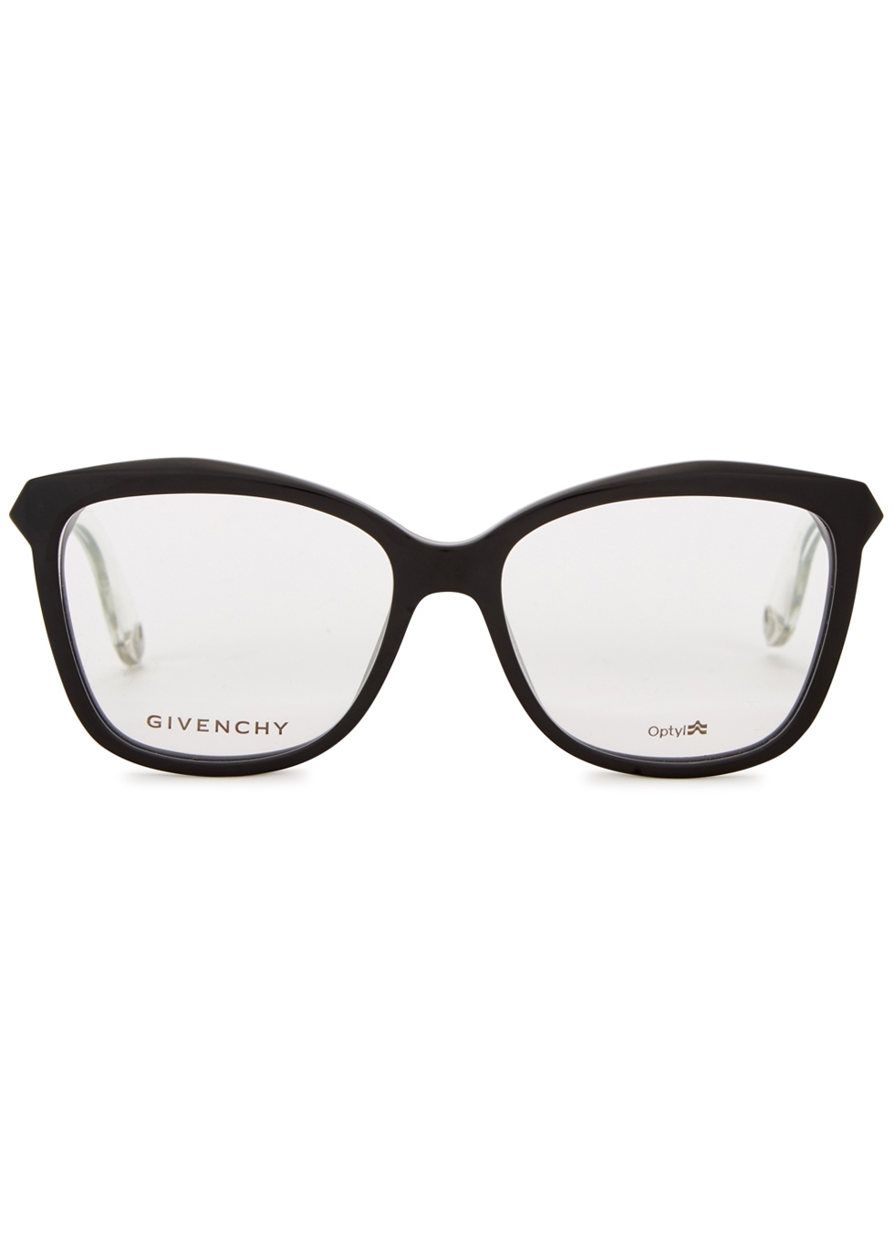 Black square-frame optical glasses - Givenchy