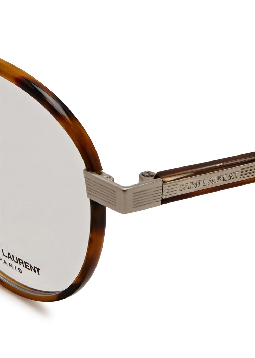 SL 125 brown round-frame optical glasses - Saint Laurent