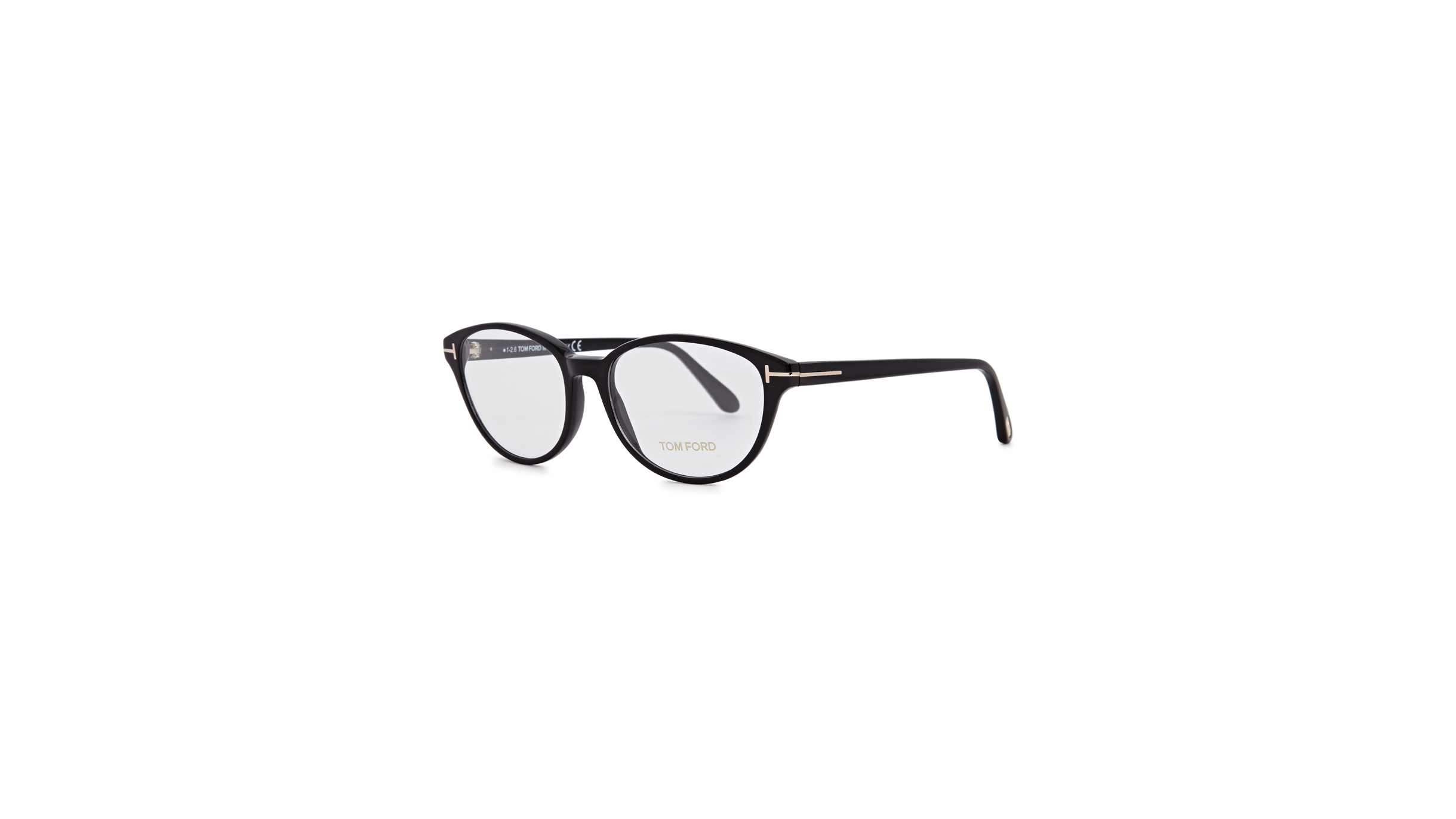 eccf25670a2 Tom Ford Black oval-frame optical glasses - Harvey Nichols