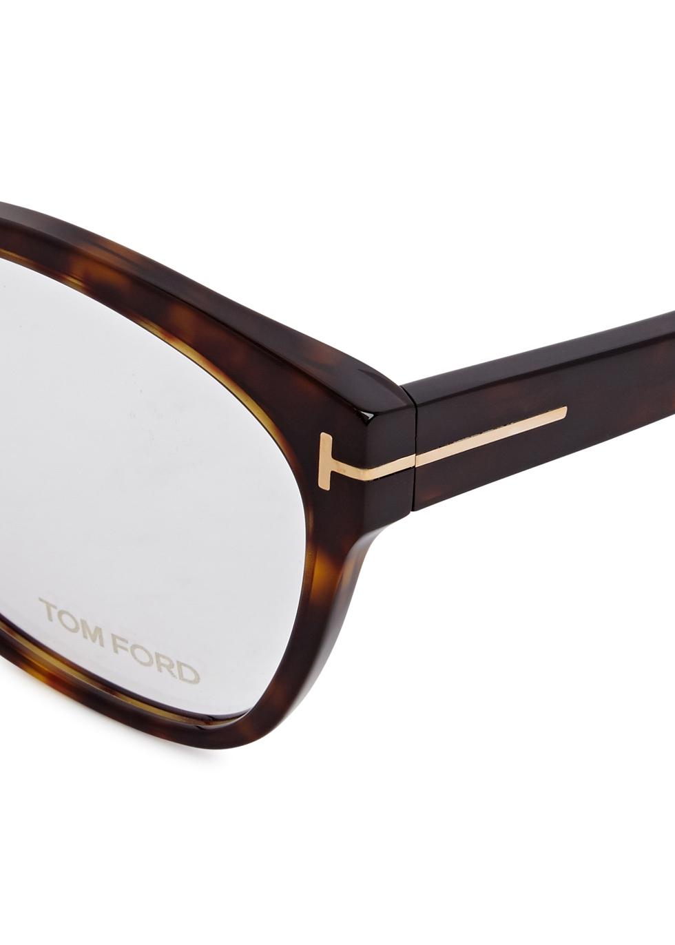 Tortoiseshell wayfarer-style optical glasses - Tom Ford