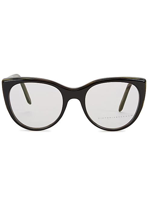 fc37f07b3cbd0 Victoria Beckham Layered Kitten black cat-eye optical glasses ...