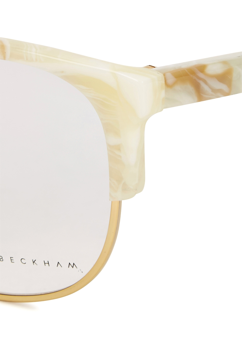 Combination Oval marbled optical glasses - Victoria Beckham