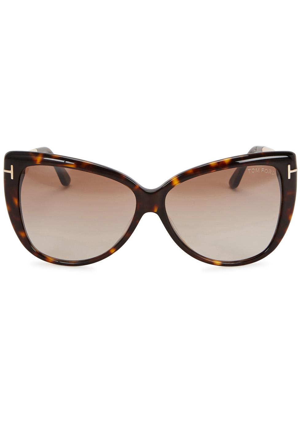 Reveka tortoiseshell cat-eye sunglasses - Tom Ford Eyewear