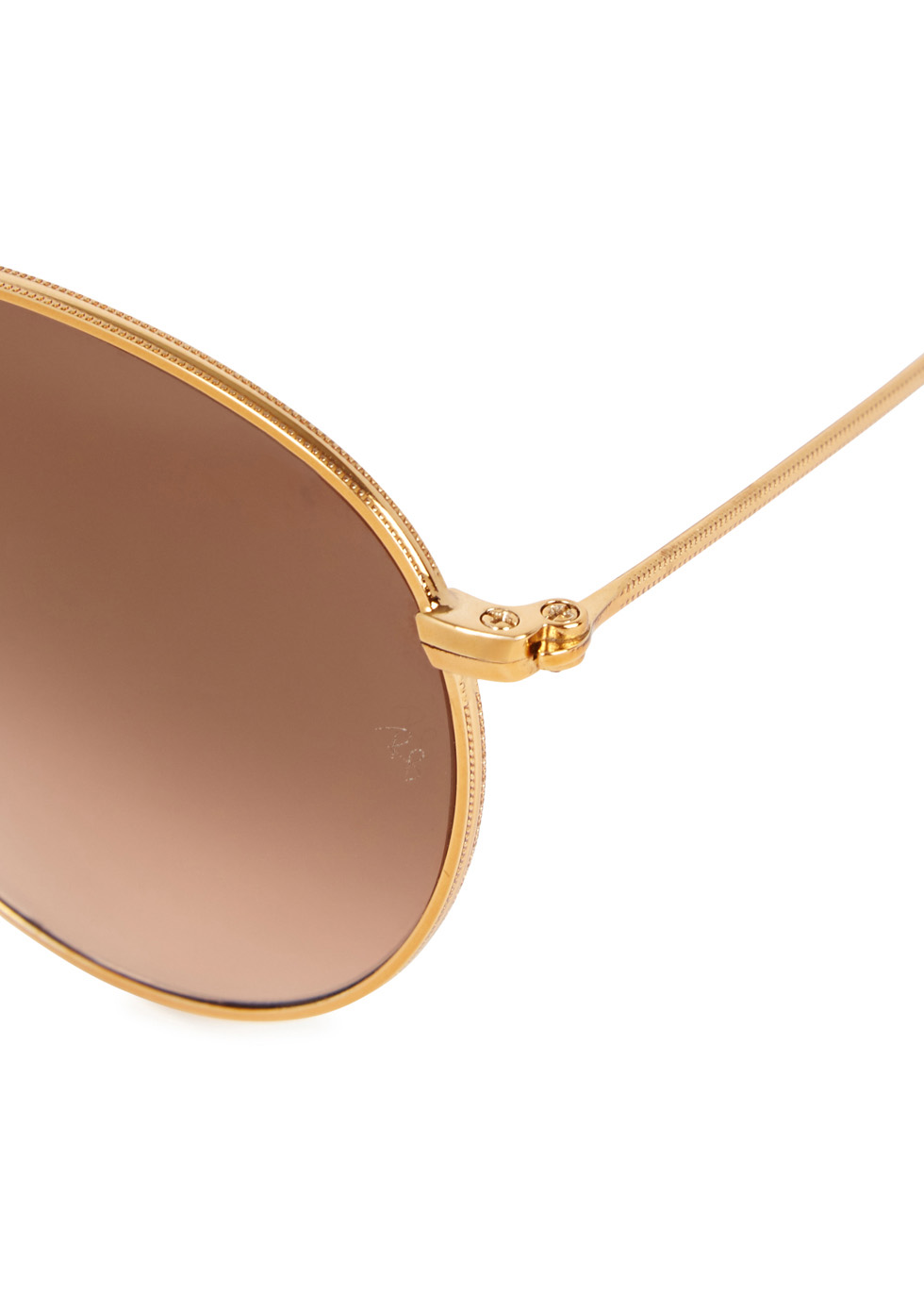 Round Metal gold tone sunglasses - Ray-Ban