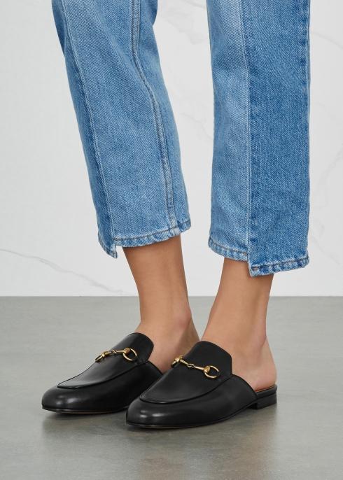 6f5200294f9 Gucci Black horsebit leather loafers - Harvey Nichols