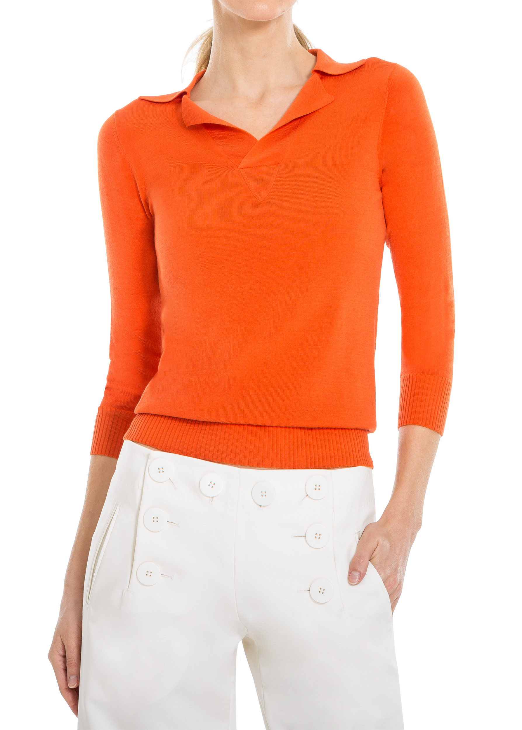 SILK POLO NECK SWEATER