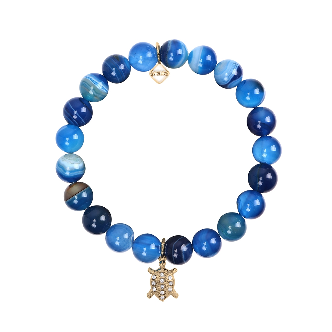 MEME LONDON TROPICAL TURTLE - BLUE MARBLE WITH GOLD