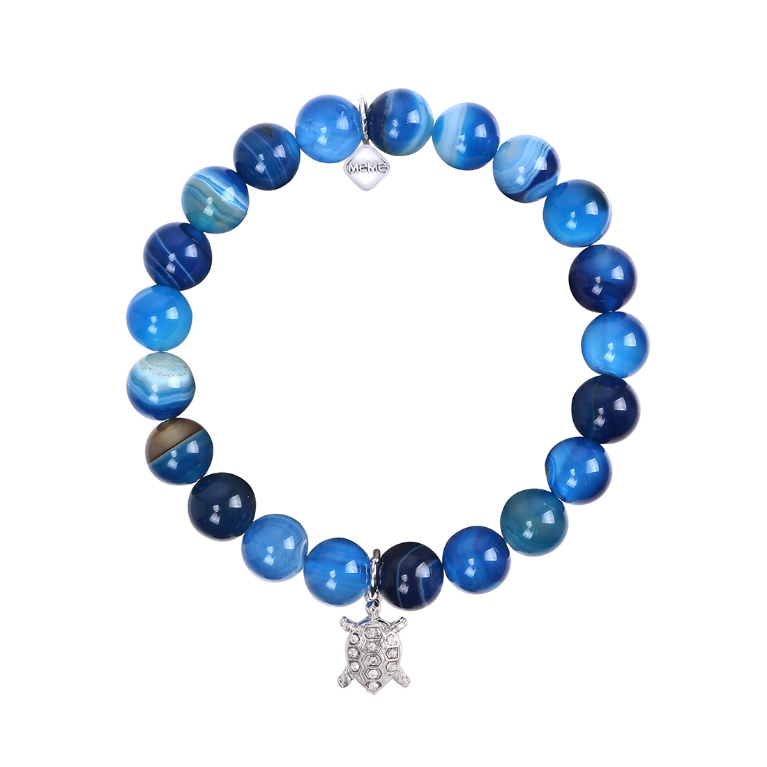 MEME LONDON TROPICAL TURTLE - BLUE MARBLE WITH WHITE GOLD