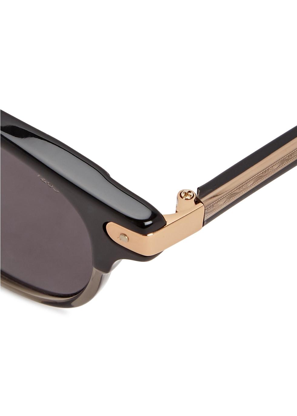 Black clubmaster-style sunglasses - EYEVAN7285