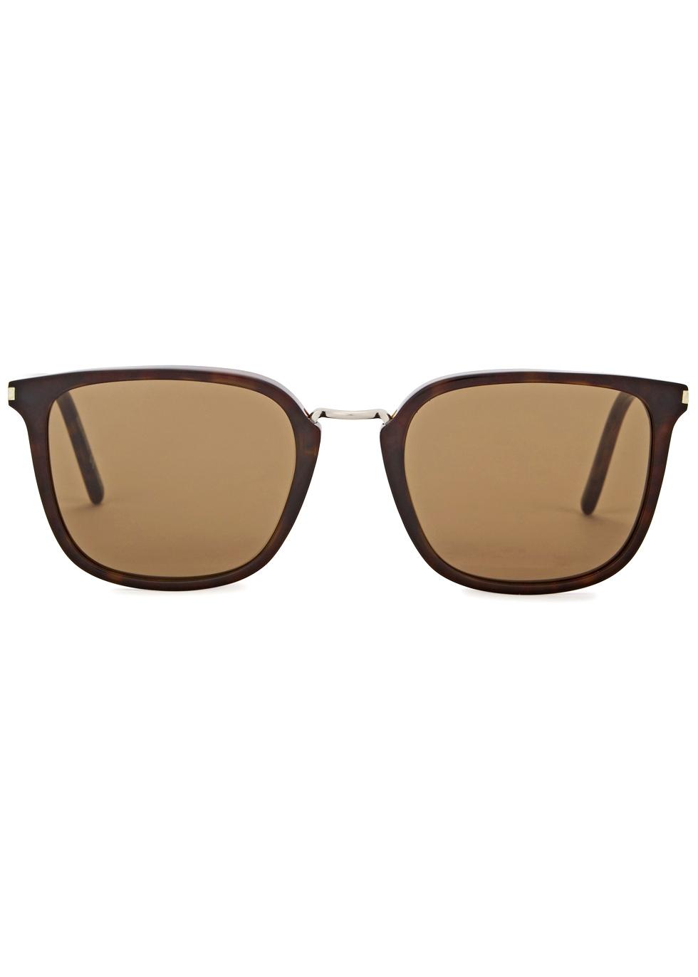 SL 131 tortoiseshell square-frame sunglasses - Saint Laurent
